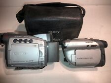 LOT Of 2 Sony Handycam DCR-DVD105 Canon Zr85 a  As Is