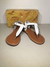 Sun-San Salt Water Sandals Big Kid's 7/Women's 9 White Thong Sandals X20-1022