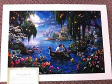 """Thomas Kinkade """"The Little Mermaid II"""" Signed & Numbered Disney Lithograph 18x24"""