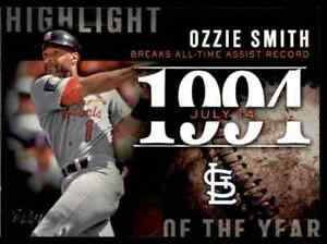 2015 TOPPS HIGHLIGHT OF THE YEAR OZZIE SMITH ST. LOUIS CARDINALS #H-55 INSERT