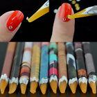 Gem Crystal Rhinestones Picker Pencil Nail Art Craft Decor Tool Wax Colorful Pen