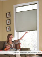 Cordless Top Down Bottom Up Cellular Honeycomb Shades, 35 to 36 Inches Wide
