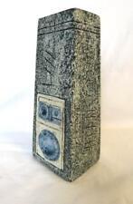 Troika Cornwall Art Pottery Coffin Vase Tina Doubleday Textured Gray Abstract Ec