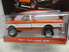 Greenlight 1969 CHEVROLET K10 Pickup ORANGE '69 w/RR Barrett-Jackson S4