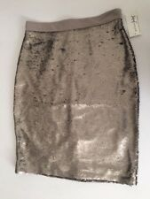 Women's NWT Maison Jules Sequin Metallic Pencil Skirt Size 0