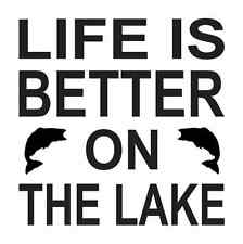 Stencil*Life is better On the Lake *w/Fish for Signs Crafts Wall Cabin Vacation