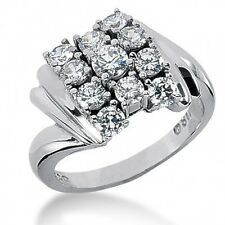 2.35Ct Women's Round Brilliant Cut Right Hand Ring in 14kt White Gold