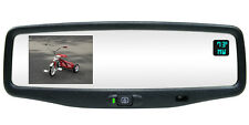 "NEW! AUTODIM COMPASS TEMP REAR VIEW MIRROR W/3.5"" BACKUP CAMERA DISPLAY 250-8801"