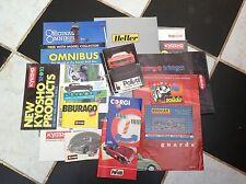 VINTAGE TOY MODEL CARS, DIECAST CATALOGUES BOOKLETS 80'S 90'S x 21 CORGI ETC.