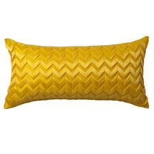 Yellow Chevron Long Filled Cushion 30 X 60cm Zig Zag Design Logan & Mason