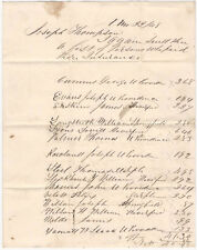1848 West Chester Pennsylvania Handwritten Manuscript- People Who Paid Insurance