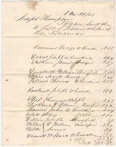 1848 Insurance - West Chester Pennsylvania Handwritten American Manuscript