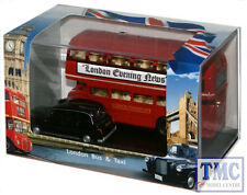 LD004 Oxford Diecast 1:76 Scale OO Gauge London Bus & Taxi Gift
