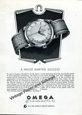 1951 Omega Seamaster A Major Wartime Success RAF Pilots Vintage Swiss Ad Suisse
