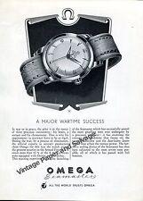 1951 Omega Seamaster A Major Wartime Success RAF Pilots Vintage Swiss Ad Suisse
