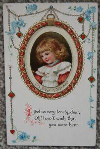 1914 St Valentine's Day My Sweet Valentine Ernest Nister Postcard Stunning