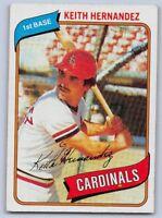 1980  KEITH HERNANDEZ - Topps Baseball Card # 321 - ST.LOUIS CARDINALS