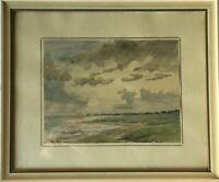 Impressionist M. Heim Sylt Küste Strand Nordsee 21 x 25 cm Norddeutschland