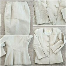 Parveen Skirt Suit Beige Gold Occasion Mother of Bride Wedding Guest Size 8 S