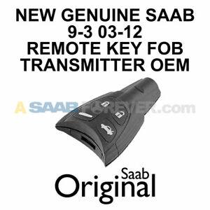 SAAB 9-3 KEY FOB REMOTE TRANSMITTER ALARM USA NEW GENUINE OEM ORIGINAL 12783781