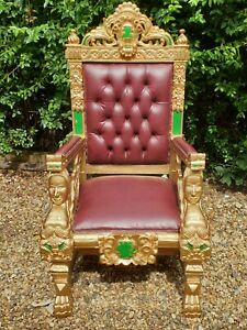 SINGLE LION KING /QUEEN STUNNING THRONE CHAIR FOR HIRE FOR CHILD/TEENAGERS ONLY