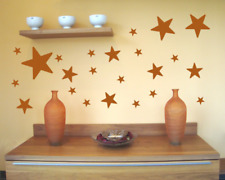 Wandtattoo Sterne Set 'gefüllt' runde Ecken Wandaufkleber Wandsticker Deko