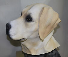 Golden labrador masque chien robe fantaisie animal chien RETRIEVER latex tête complète