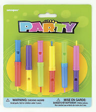 Whistle Slide Flutes x6 Childrens Birthdays Party Favours Games