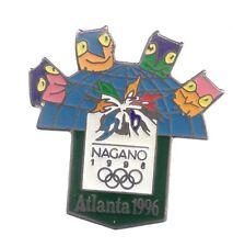 1996 To 1998 Olympic Bridge Pin Atlanta to Nagano Mascots 2
