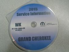 2015 JEEP GRAND CHEROKEE Service Information Repair Service Manual CD DVD OEM