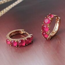 Fashion jewellery! Charming 18K gold filled ruby cool stylish earring