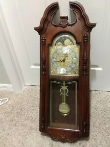 Howard Miller 620-182 Rowland Wall Clock Moon Phase Works (Missing Finial)