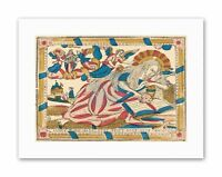 FRENCH MANUSCRIPT ICON MARY MAGDALENE Painting Canvas art Prints