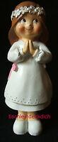 Tortenfigur Tortenaufsteller Mädchen Kommunion Konfirmation schelmig  12,5cm