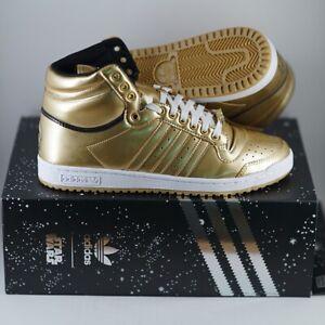 Adidas Top Ten Hi Star Wars C-3PO Size 10 Men's Gold Metallic NEW DS FY2458
