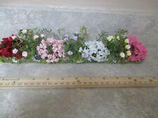 """Miniature doll/dollhouse 12"""" Side of house garden/roses/azaleas #4"""