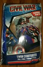 Marvel Captain America Twin Comforter Bedding NWT