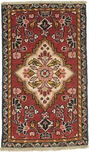 Farmhouse Oriental Rug Tribal Red 2X3 Small Vintage Home Kitchen Decor Carpet