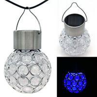 7-Color Hanging Solar LED Changing Light Garden Crystal Ball Party Tree Light