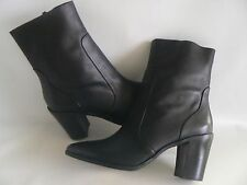 MARKS & SPENCER Black Leather Ankle Boots Insolia Comfort Size 7.5  £79