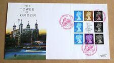 La Torre di Londra francobolli mondo Londra 1990 riquadro libretto COVER