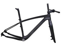 "29er Mountain bike Carbon Frame Fork Disc brake Hardtail MTB UD Matt BSA 19"" L"