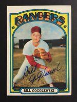 Bill Gogolewski Rangers Signed 1972 Topps Baseball Card #424 Auto Autograph 2