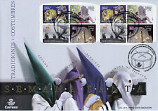 Spain 2019 FDC Easter Holy Week 8v S/A Booklet Cover Religion Cultures Stamps