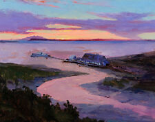 Laurence Sydney Early Anchorage Alaskan Salmon Cannery Canvas 16 x 20   #8683