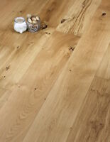 190mm Wide long Plank Oak Engineered Wood flooring Brushed and oiled 20/6mm