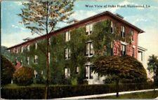 1910. HAMMOND, LA. WEST VIEW OF OAKS HOTEL. POSTCARD RR2