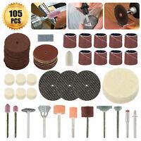 105Pc Mini Dremel Drill Grinding Accessory Kit Polishing Carving Rotary Tool Set