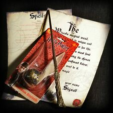 Harry Potter Golden Snitch with Wizards Wand and spell sheet/activation sheet.
