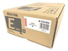 Risograph S 8187ua S 7210 Crimson Ink Box Of 2 1000ml Tubes